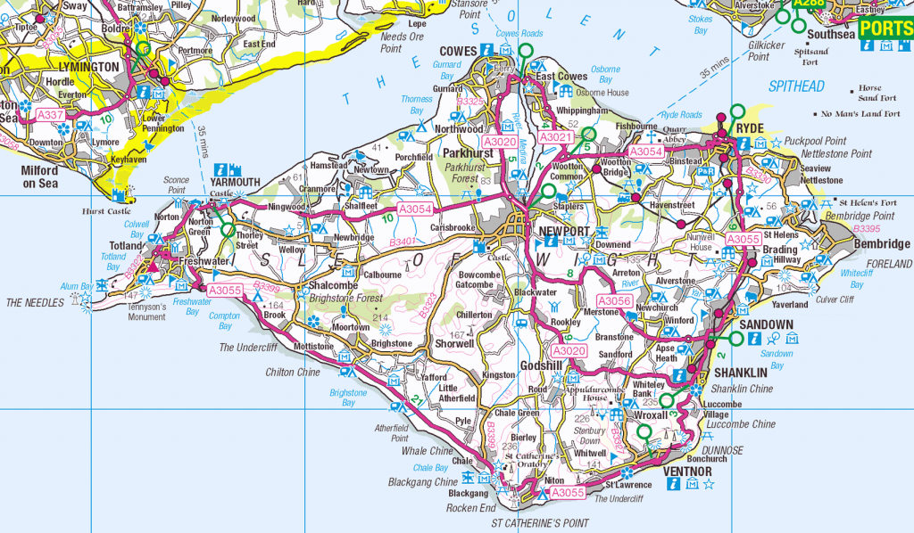 Isle Of Wight Os Opendata Map - Isle Of Wight - Wikipedia, The Free - Printable Map Of Isle Of Wight