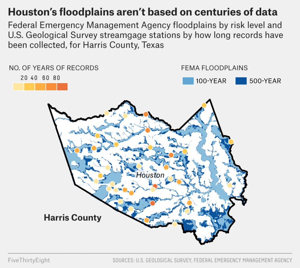 It's Time To Ditch The Concept Of '100-Year Floods' | Fivethirtyeight - 100 Year Floodplain Map Texas