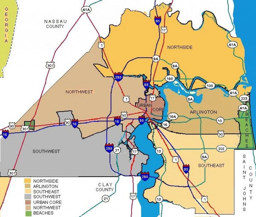 Jacksonville Neighborhood Map - Jacksonville Fl Neighborhood Map - Map To Jacksonville Florida