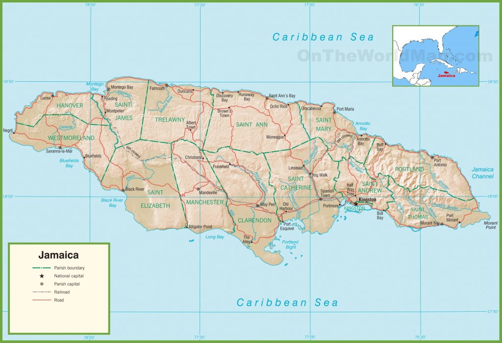 Jamaica Maps | Maps Of Jamaica - Free Printable Map Of Jamaica