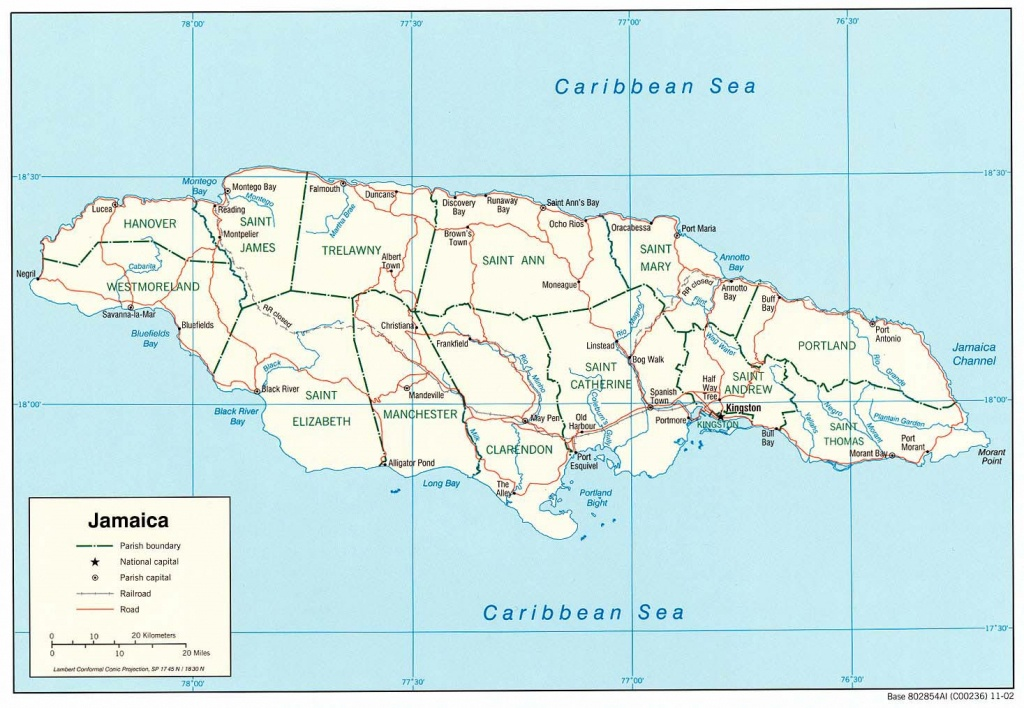 Jamaica Maps | Printable Maps Of Jamaica For Download - Free Printable Map Of Jamaica