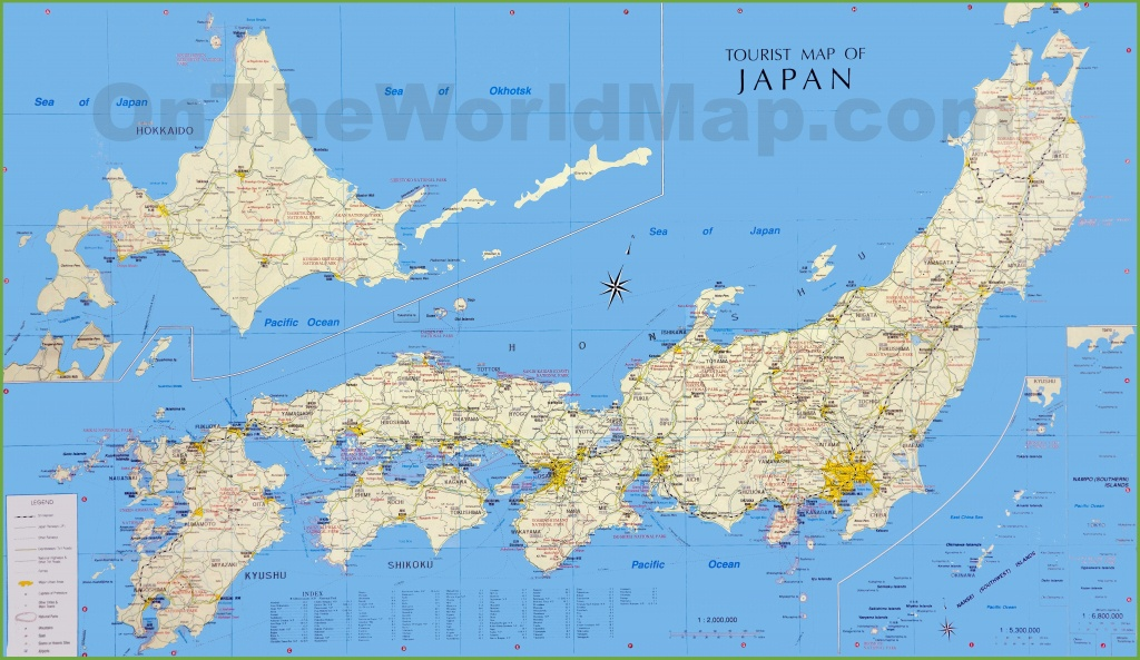Japan Tourist Map - Large Printable Map Of Japan