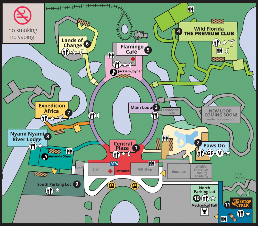 Jazzoo Map | Brevard Zoo - Central Florida Zoo Map