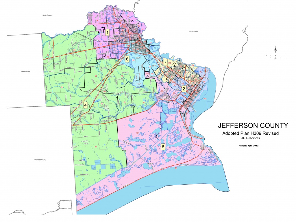 Jefferson County, Texas Elections - Jefferson County Texas Map