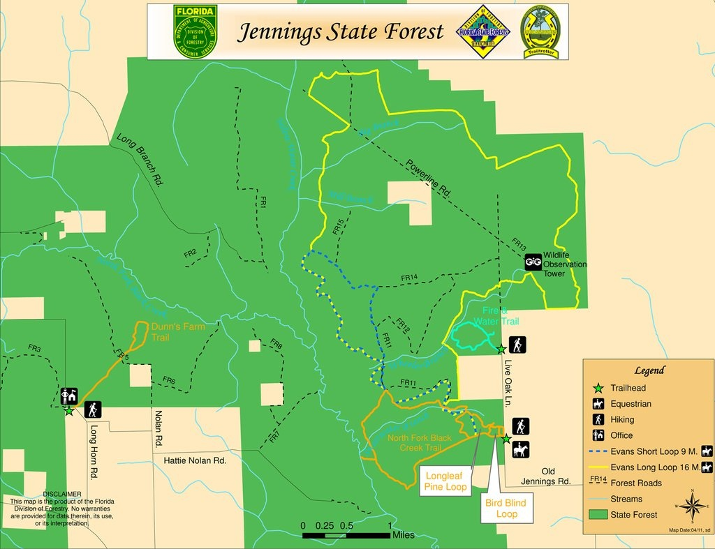 Jennings State Forest - Maplets - Jennings Florida Map