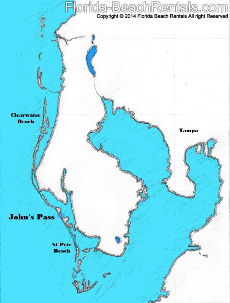 Johns Pass Tourist Attraction - Johns Pass Florida Map