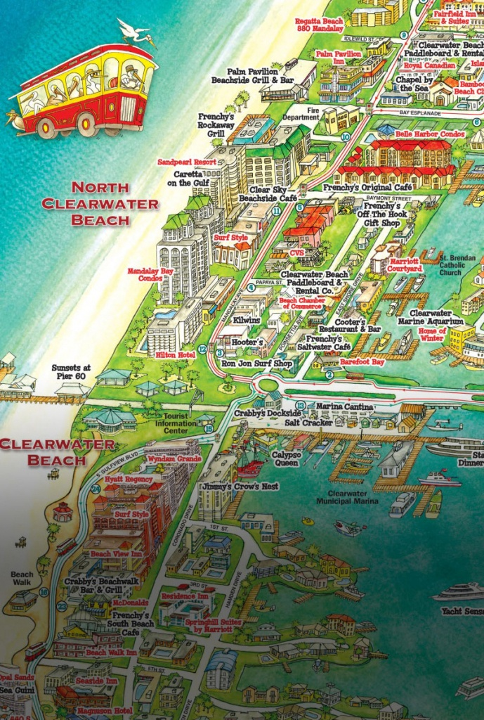 Jolley Trolley – Welcome Aboard Clearwater Jolley Trolley! - Clearwater Beach Florida Map Of Hotels