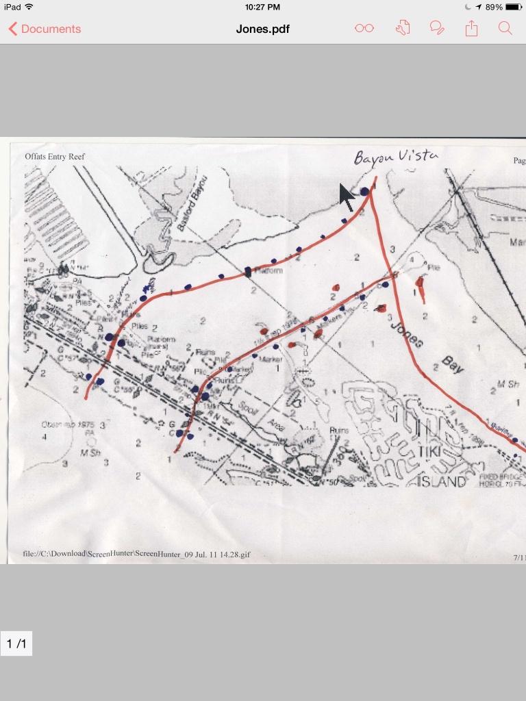 Jones Bay Channel Map. West Bay Galveston Tx | Texas Gulf Coast - Texas Gulf Coast Fishing Maps