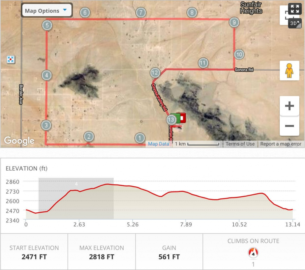 Joshua Tree Half Marathon » Vacation Races - Joshua Tree California Map