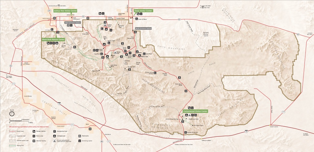 Joshua Tree Maps | Npmaps - Just Free Maps, Period. - Joshua Tree California Map