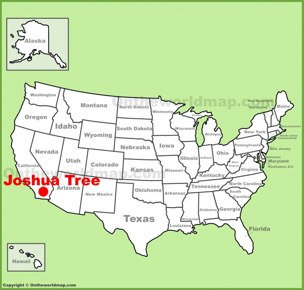 Joshua Tree Maps | Usa | Maps Of Joshua Tree National Park - Texas Tree Map