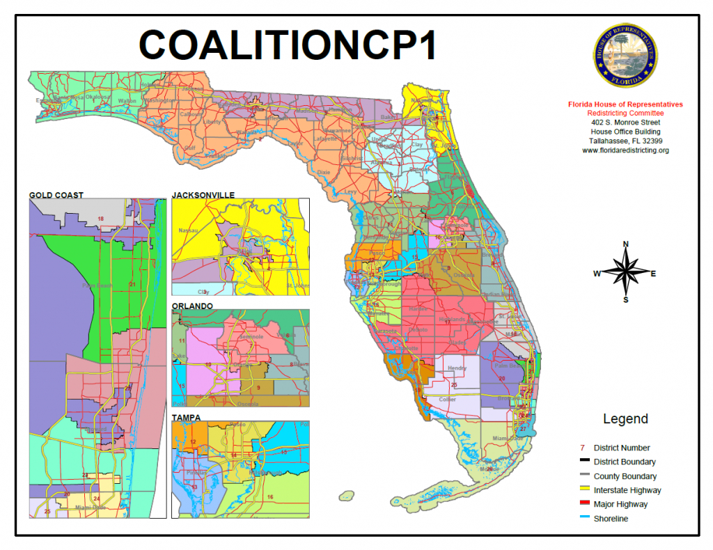 Judge Orders Overhaul Of Florida's Congressional Districts - Florida House Of Representatives Map