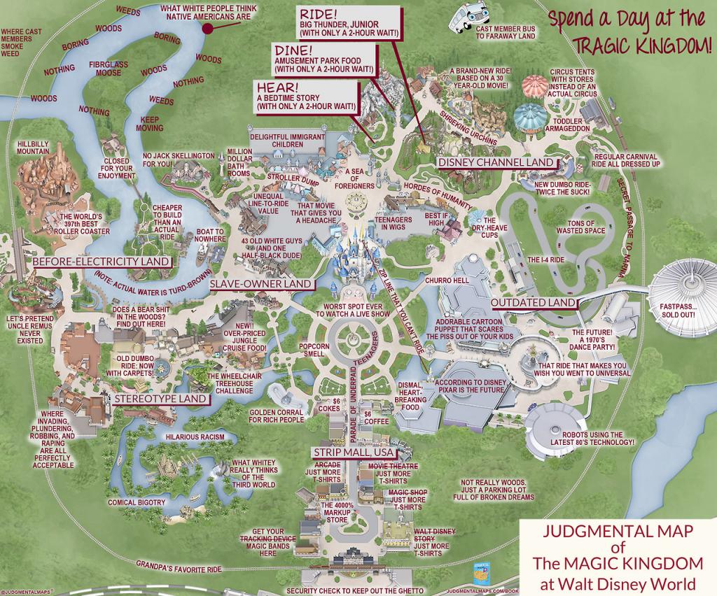 Judgmental Maps — Magic Kingdom, Disney Worldorlando Truth - Walt Disney Florida Map