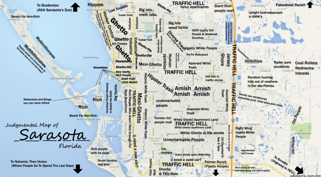 Judgmental Maps — Sarasota, Fltony Copr. 2014 Tony. All Rights - Map Of Sarasota Florida And Surrounding Area