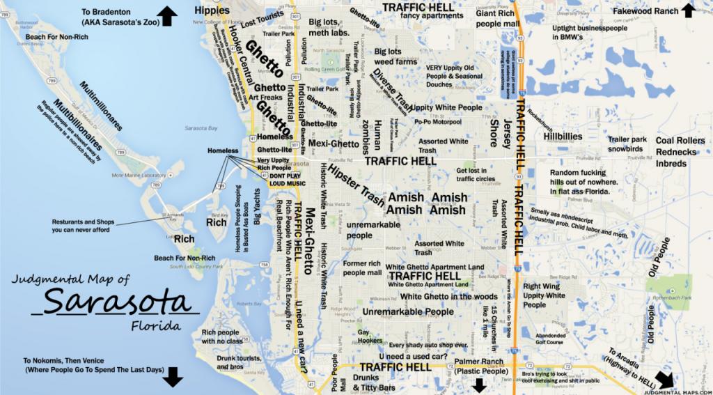 Judgmental Maps — Sarasota, Fltony Copr. 2014 Tony. All Rights - Map Of Sarasota Florida Area