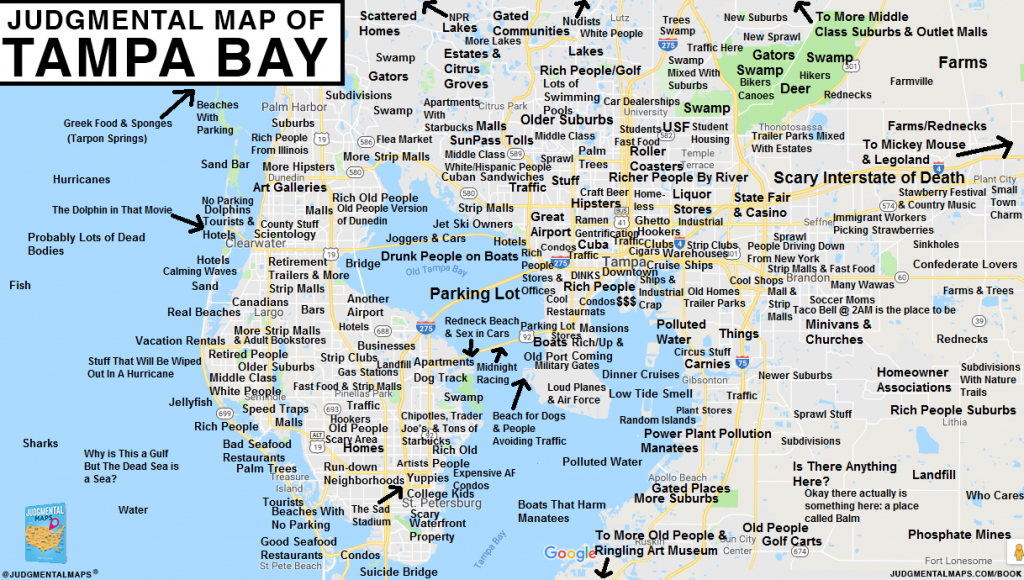Judgmental Maps — Tampa Bay, Flalex S. Copr. 2017 Judgmental - Tampa St Petersburg Map Florida