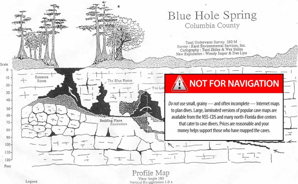 Jug Hole - The Cave Diving Website - Florida Cave Diving Map