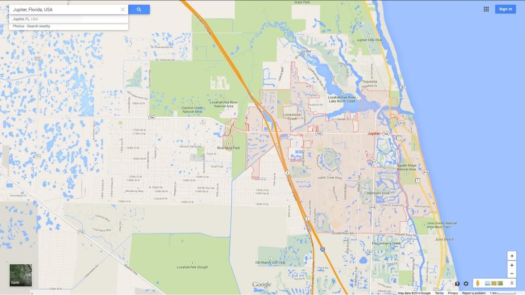 Jupiter Florida Map - Where Is Jupiter Florida On The Map