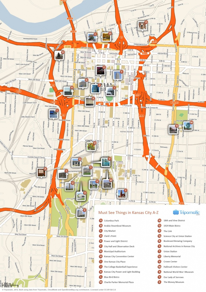 Kansas City Printable Tourist Map | Free Tourist Maps ✈ | Kansas - Printable City Maps