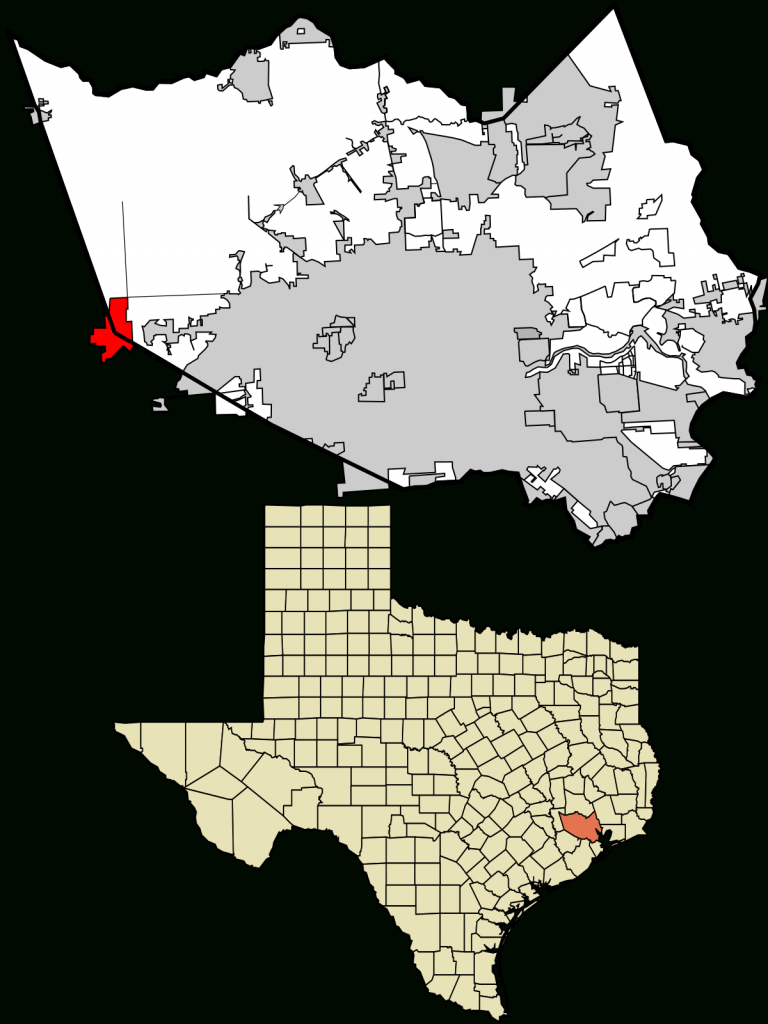 Katy, Texas - Wikipedia - Harris County Texas Map