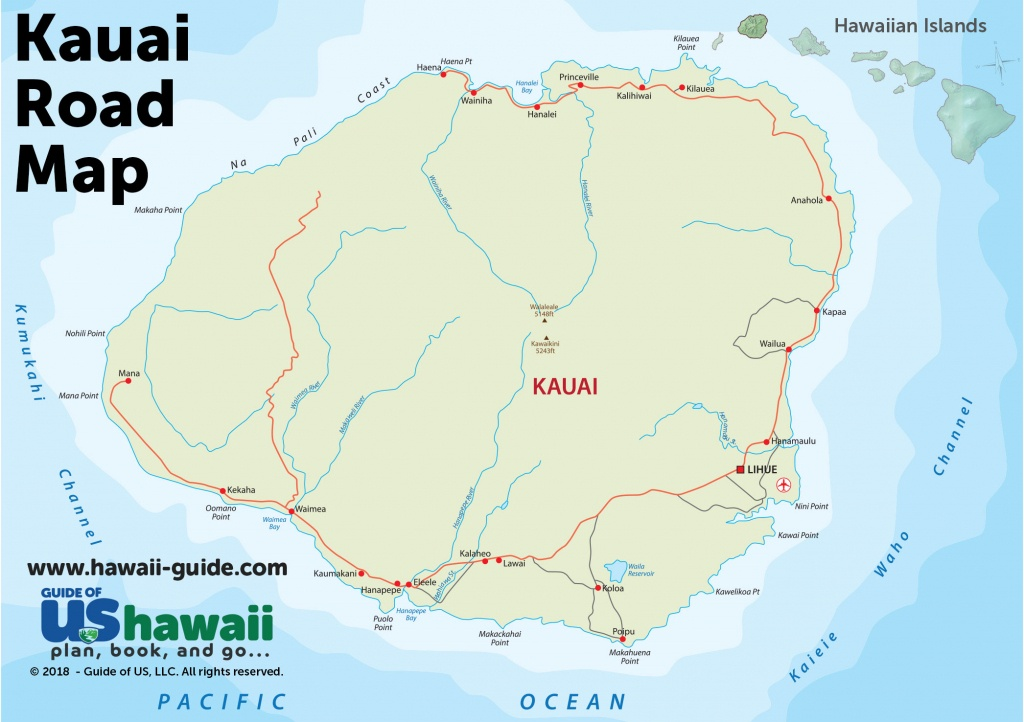 Kauai Maps - Printable Map Of Kauai