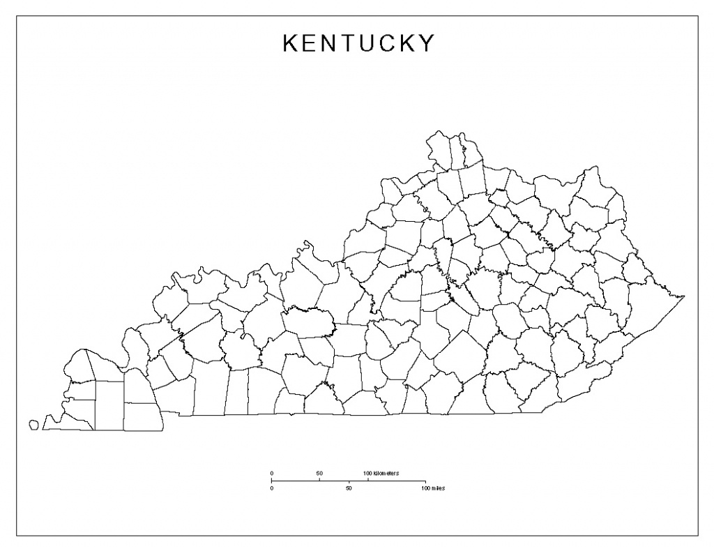 Kentucky Blank Map - Printable County Maps