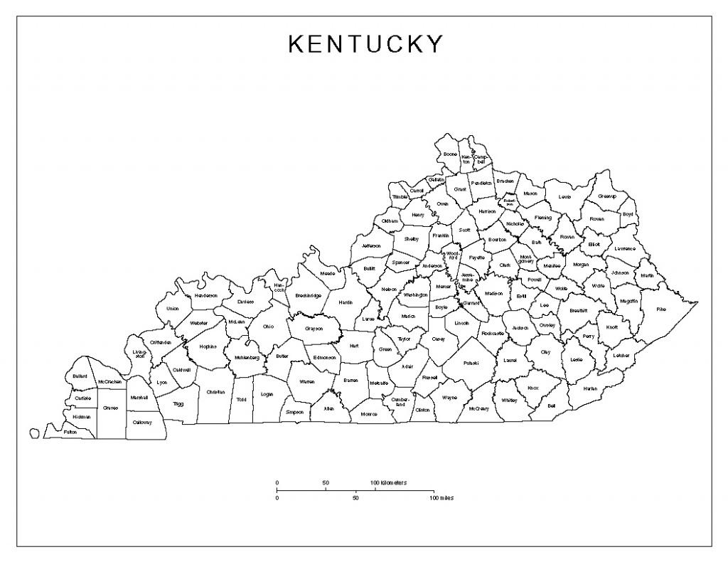 Kentucky Labeled Map - Printable Map Of Kentucky