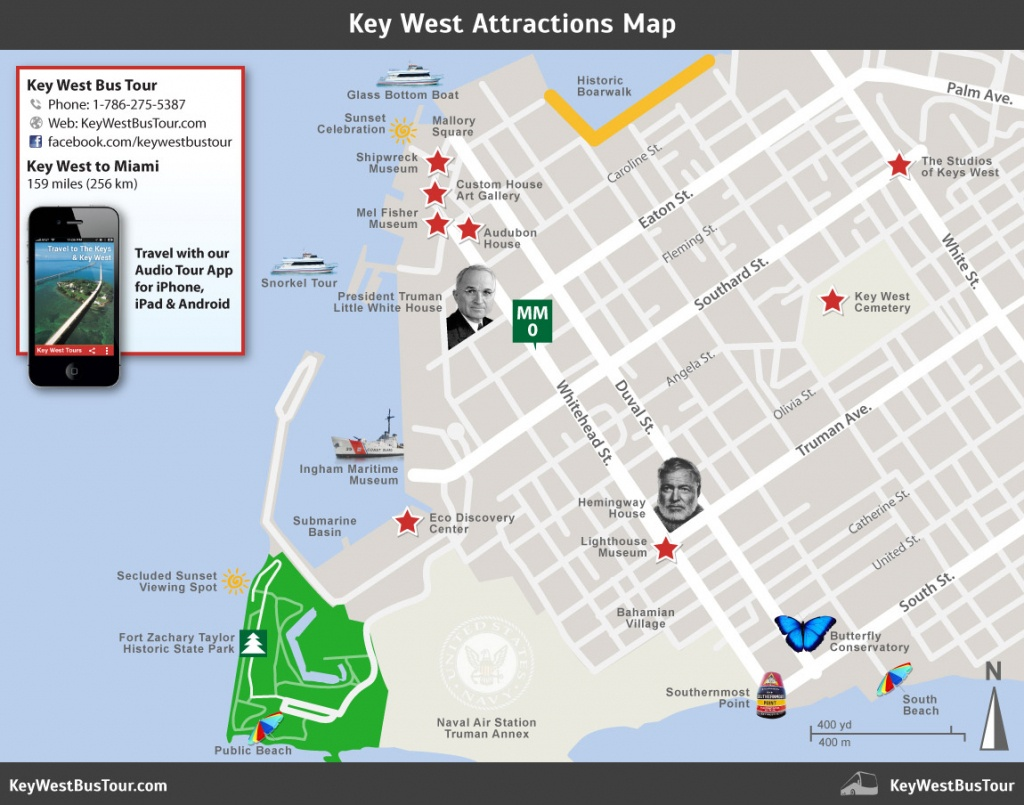 Key West Attractions Map :: Key West Bus Tour - Key West Street Map Printable