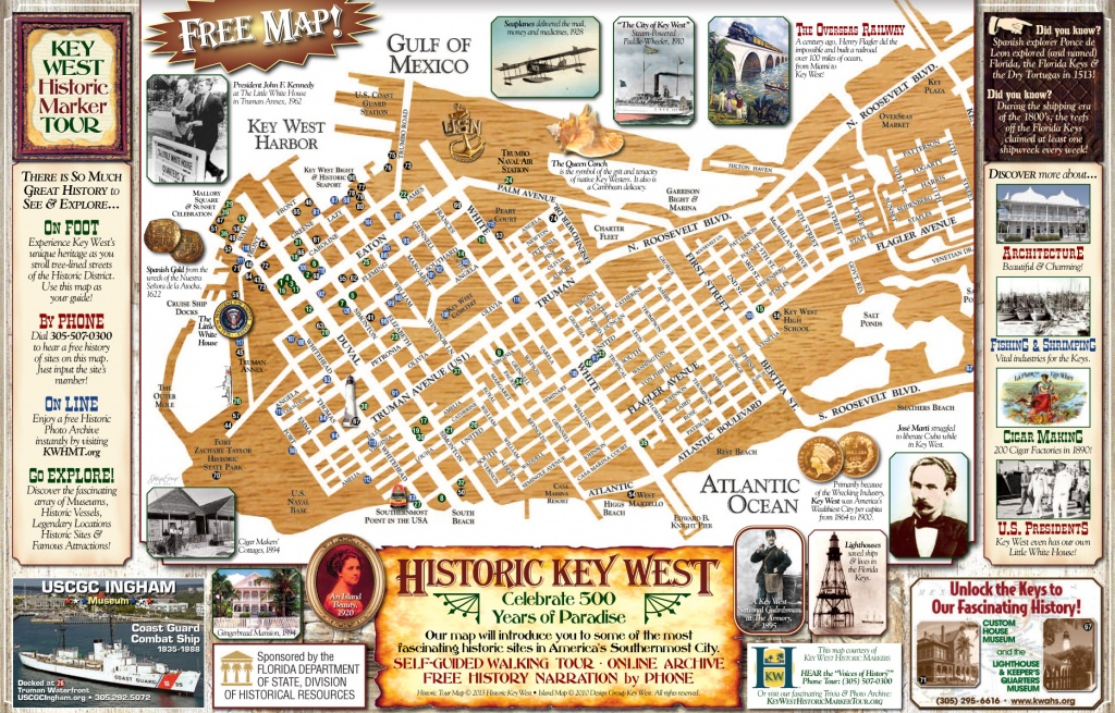 Key West Historic Marker Maps And Heritage Trails - Printable Map Of Key West