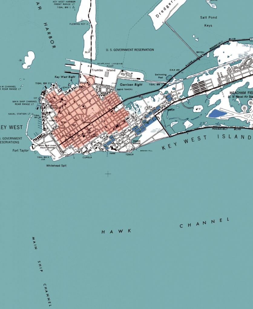 Key West Key West Map Key West Art Beach House Decor | Etsy - Printable Map Of Key West