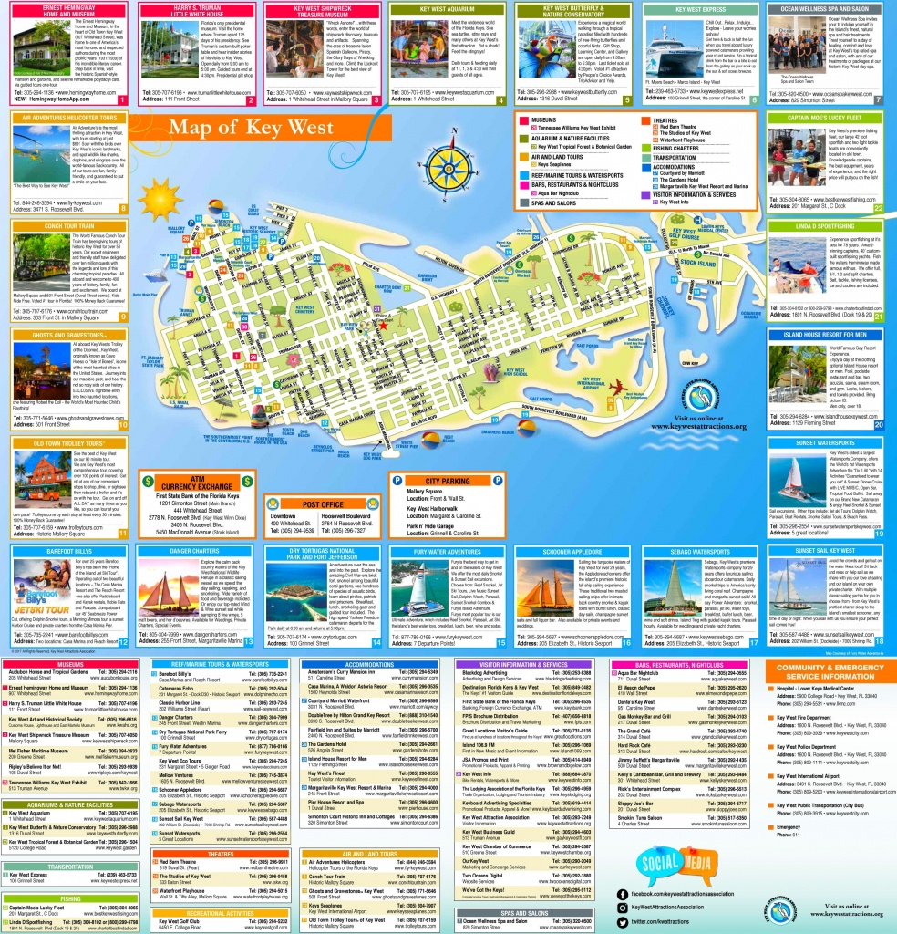 Key West Tourist Map - Printable Street Map Of Key West Fl