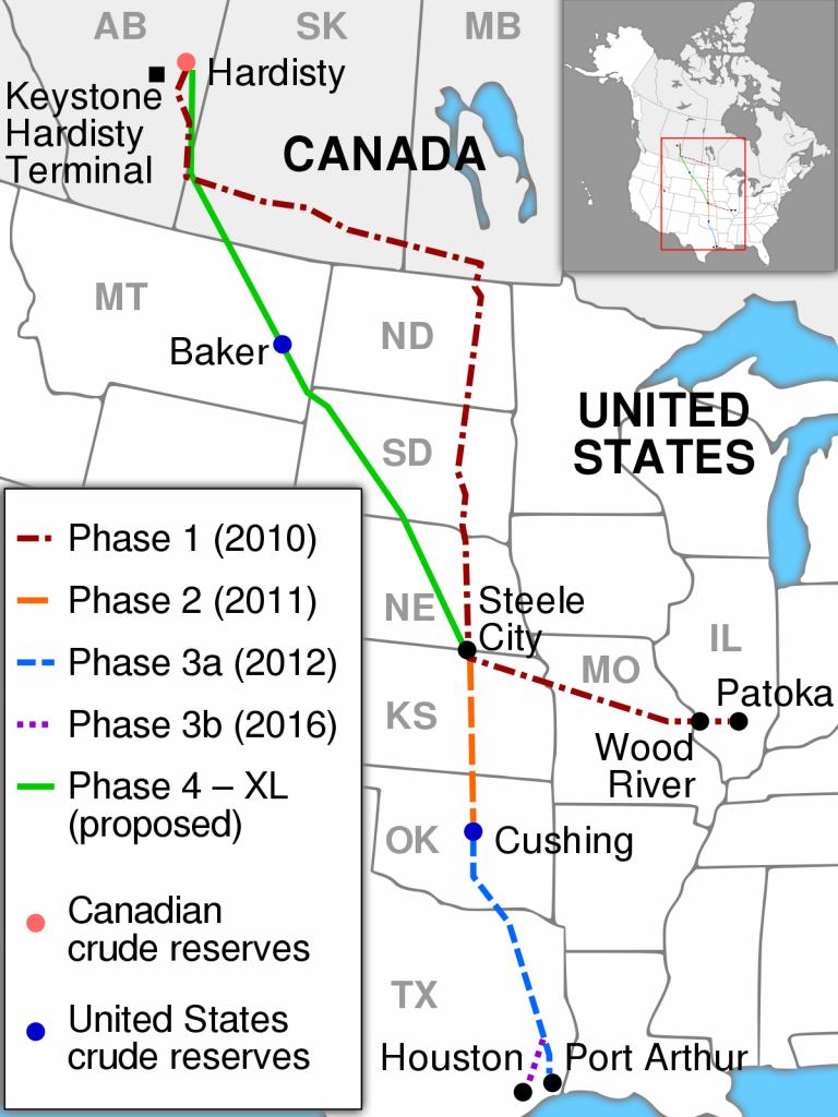 Keystone Pipeline - Wikipedia - Keystone Pipeline Map Texas