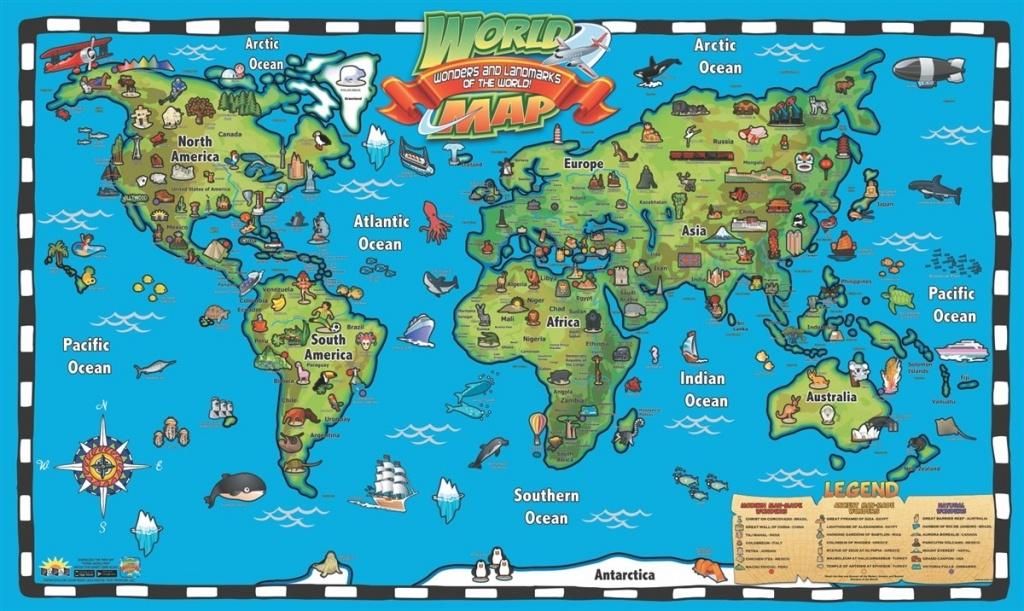 Kids 1 Children S Map Of The World 7 - World Wide Maps - Children's Map Of The World Printable
