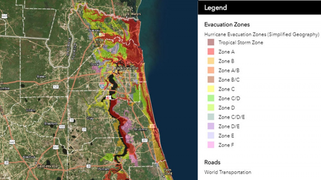 Know Your Flood/evacuation Zone - Florida Hurricane Evacuation Map