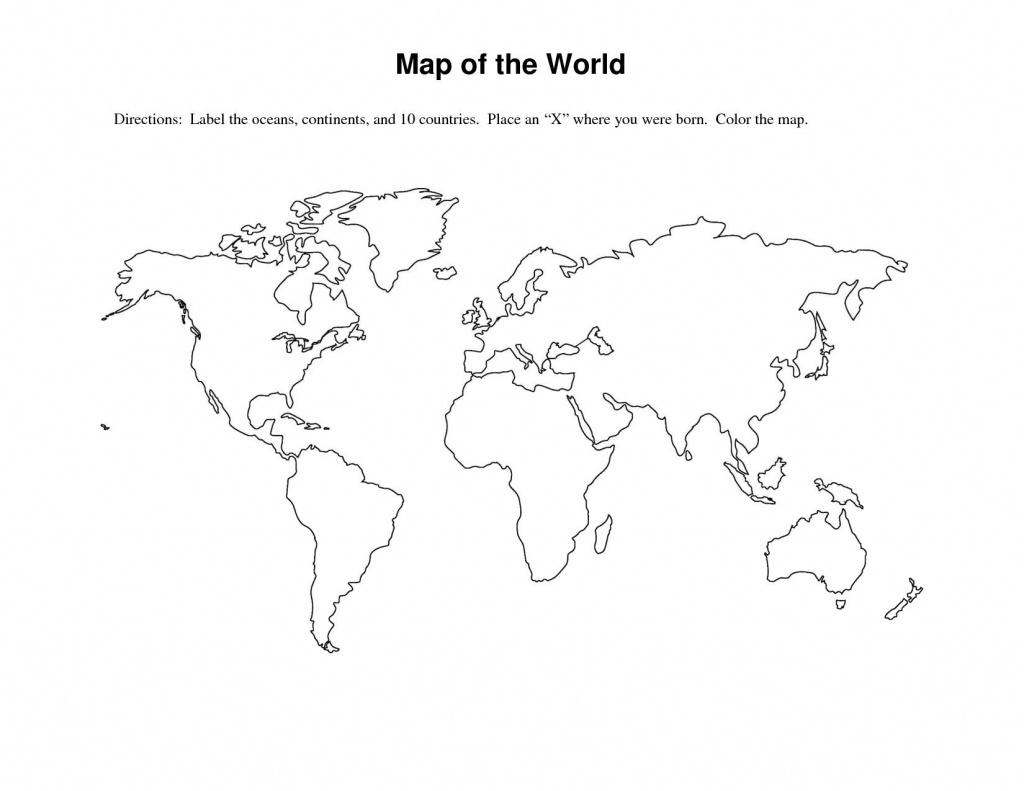 Labeled World Map Printable | Sksinternational - Basic World Map Printable