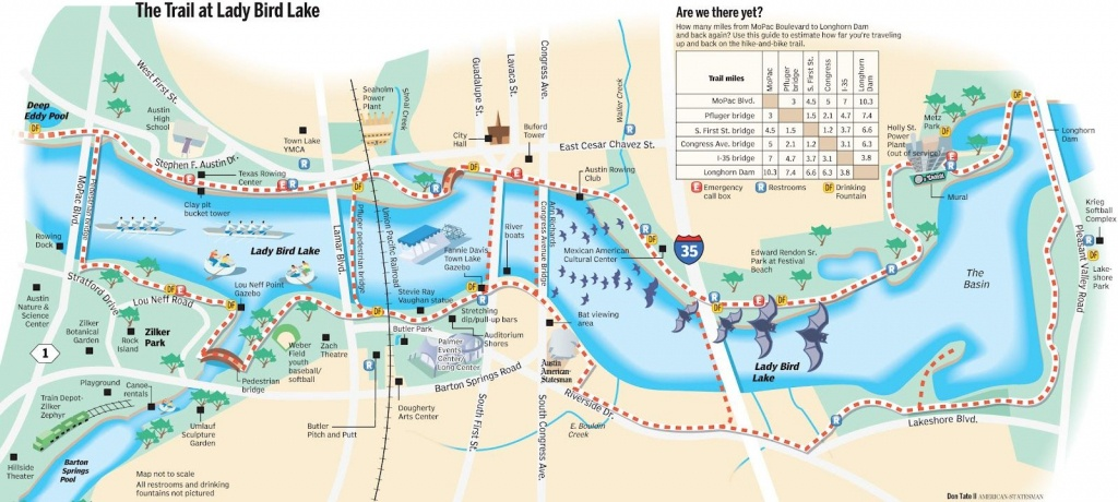 Lady Bird Lake Hike & Bike Trail | Austin | Austin Activities, Trail - Austin Texas Bike Map
