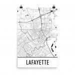 Lafayette Map Lafayette La Art Lafayette Print Lafayette | Etsy   Printable Map Of Lafayette La