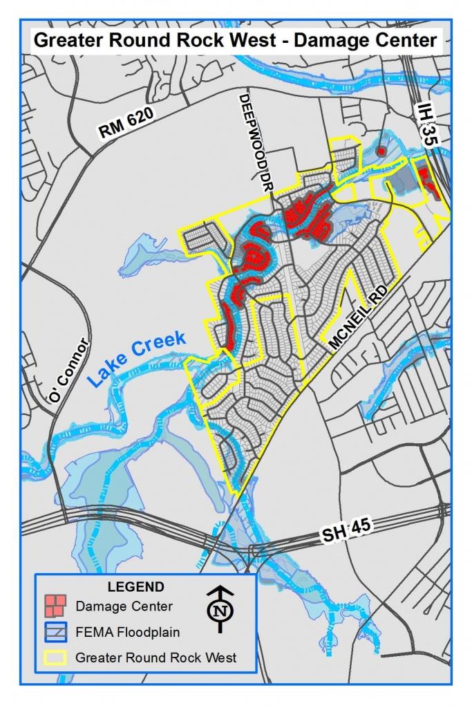 Lake Creek Flood Mitigation - City Of Round Rock - Round Rock Texas Flood Map