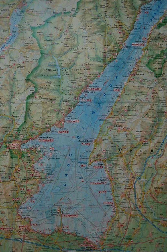 Lake Garda | Maps | Home Decor, Bohemian Rug, Rugs - Printable Map Of Lake Garda