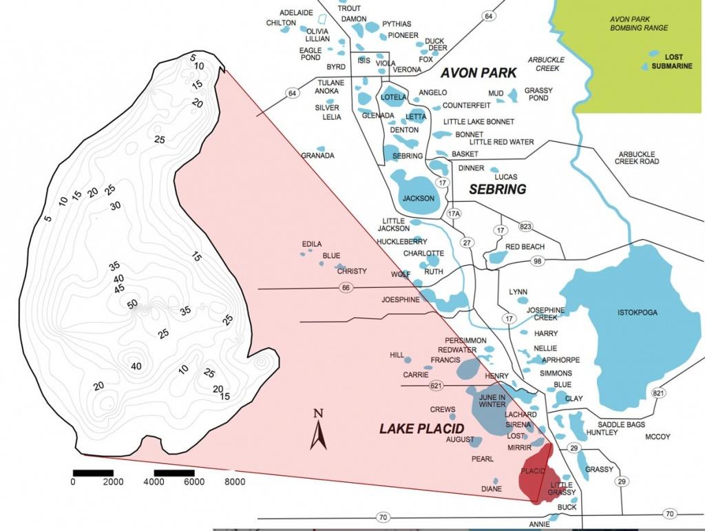 Lake Profile: Lake Placid   Coastal Angler & The Angler Magazine - Lake Placid Florida Map