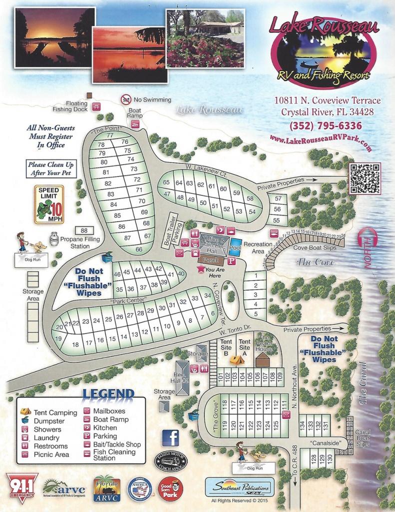 Lake Rousseau Rv Park - Florida Tent Camping Map