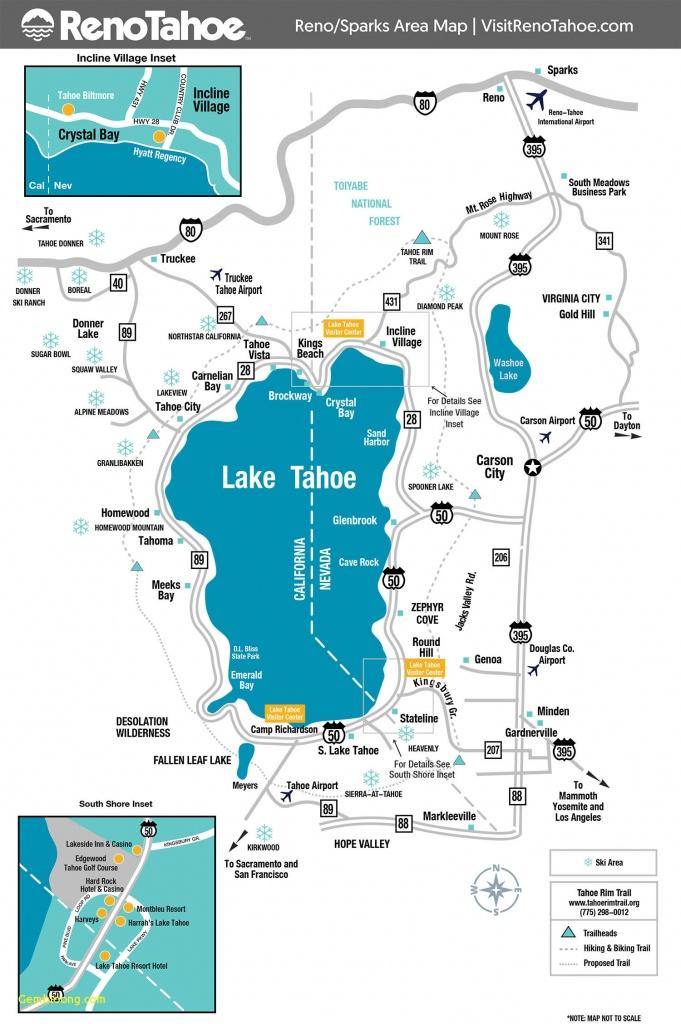 Lake Tahoe Ski Resorts Map Ski Resorts California Map Klipy - California Ski Resorts Map