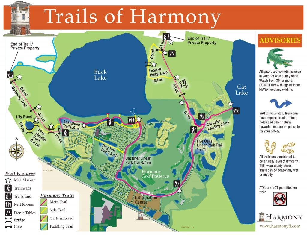 Lakes And Trails At Harmony Florida - Piece Of Serenity And Beauty - Harmony Florida Map