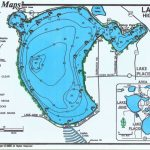 Lakes Placid / June Bass Map (2 Sided Map)   Mark Evans Maps   Florida Fishing Lakes Map