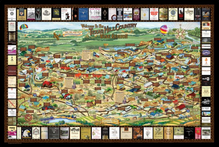 Texas Winery Map