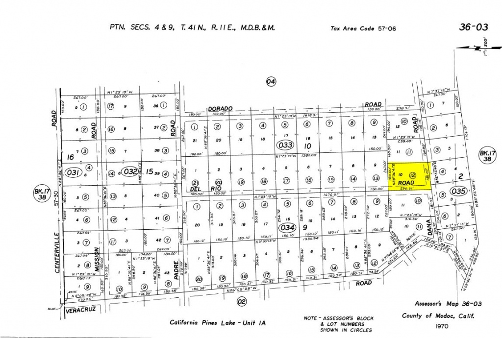 Land Rush Now | Land For Sale In California Pines – Dana Rd. Lake - California Parcel Map
