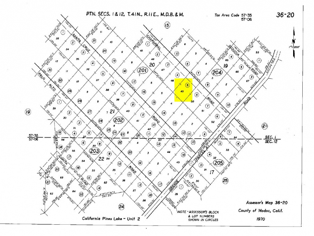 Land Rush Now | Plat Map-Chaparral Rd. California Pines - California Parcel Map