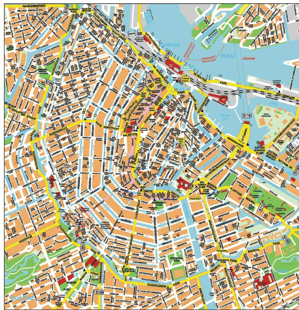 Large Amsterdam Maps For Free Download And Print   High-Resolution - Printable Tourist Map Of Amsterdam