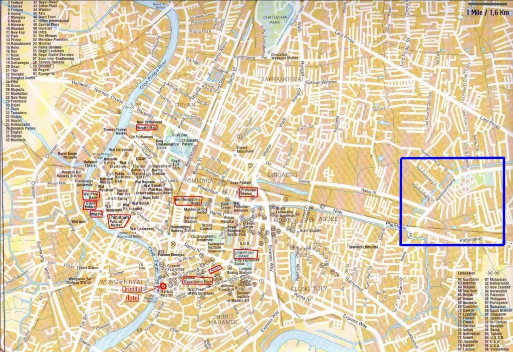 Large Bangkok Maps For Free Download And Print | High-Resolution And - Printable Map Of Bangkok