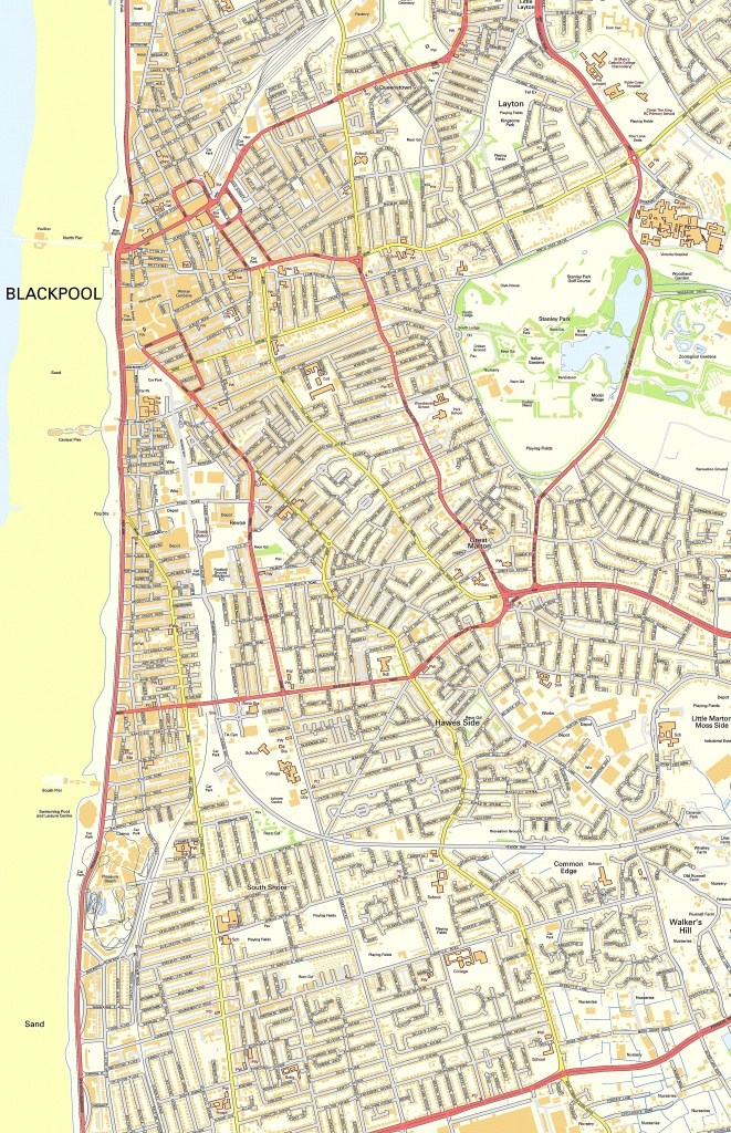 Large Blackpool Maps For Free Download And Print   High-Resolution - Blackpool Tourist Map Printable